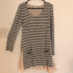 Altar'd State dress size small, gray/beige